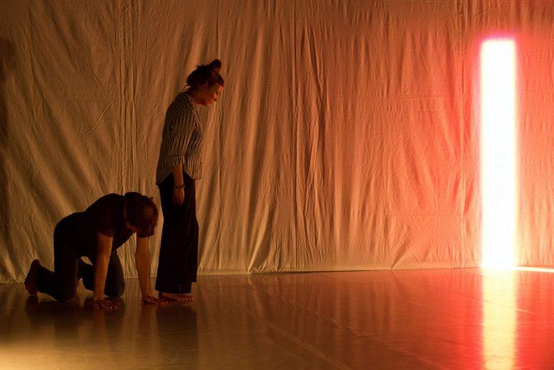 Jurij Konjar: V iskanju mirovanja (Still), Prva uprizoritev raziskovalnega procesa Catherine Jauniaux, Jake Šimenca in Jurija Konjarja, Kino Šiška, sep. 2013